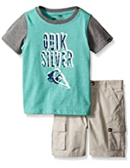 Quiksilver Little Boys' 2 Piece Graphic Tee with Microsueded Short Set