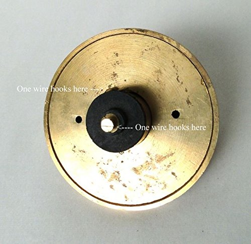 Round PRESS Porcelain Door Bell Button Electric Victorian Solid Brass Old Tiffany Green by The King's Bay (Image #3)