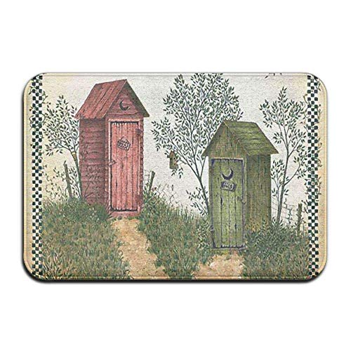 balloon heart Linda Spivey Outhouses Anti Slip Machine Washable Door Mat Home Decor Rug Welcome Doormat - Linda Spivey Hearts