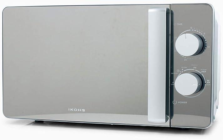 Opinión sobre IKOHS Microondas MW700M Espejo - Microondas, 700W,Capacidad de 20L, 6 Niveles de Potencia, Temporizador hasta 30 minutos, 33.5x45.0x25.0 cm