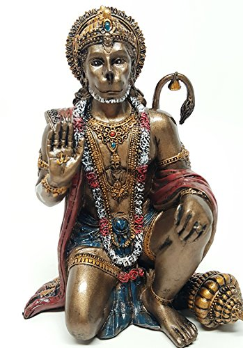6 Inch Hanuman Mythological Indian Hindu God Resin Statue Figurine