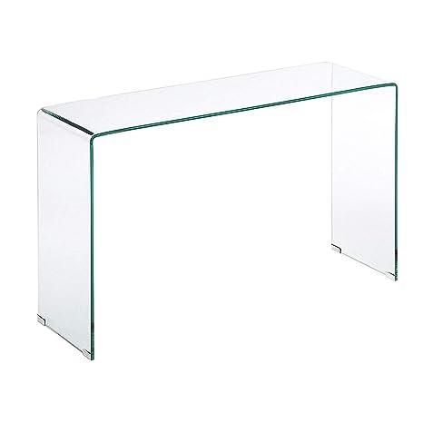 Tavolino In Cristallo Trasparente.Tavolino Tavolo Da Salotto In Vetro Temperato Tavolo Luxury Z 03 Design Curvo E Moderno 126 X 70 X 40 Cm Vetro Temperato Trasparente