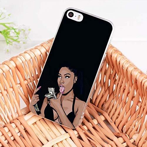Black Nicki Minaj iPhone 6 Case Hip-Hop Rapper Singer Model Onika Tanya Maraj 6S Cover Nicki Yamaguchi Young Cash Money Hottest MC Hip Hop Rap R&B Pop Dance Music Actress, TPU