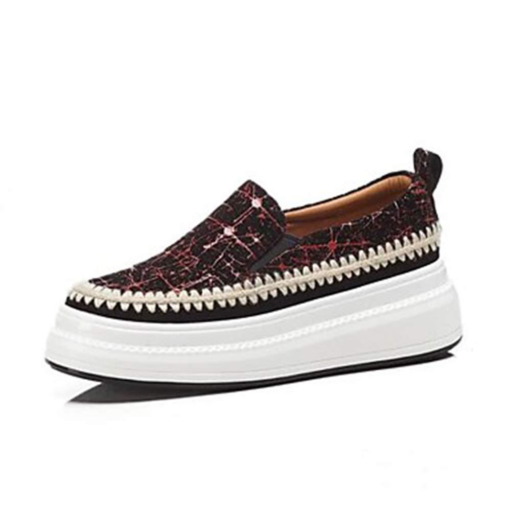 TTSHOES Per Donna Scarpe Montone Estate Comoda Sneakers Piatto Punta Tonda Giallo/Rosso,Red,US7.5/EU38/UK5.5/CN38  -