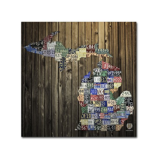 Michigan Counties License Plate by Design Turnpike,  Canvas Wall Art