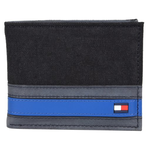 Tommy Hilfiger Mens Genuine Leather Passcase Bi-fold Wallet