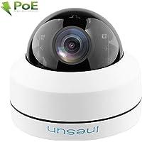 Inesun Outdoor Security PoE IP Camera 5MP 4X Optical Zoom Autofocus IK10 Vandal-Proof PTZ Dome Camera IP66 Waterproof 100ft IR Night Vision