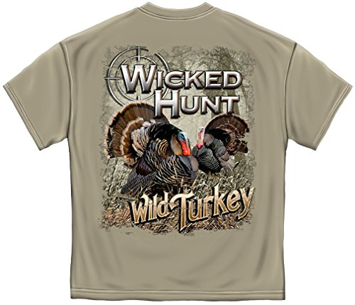 (Hunting T-Shirt Wicked Hunt Turkey XX-Large Ice Gray)