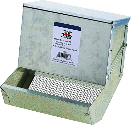 Little Giant7 inch Galvanized Rabbit Feeder  AF7SL Gravity Bin Feeder