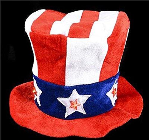 - 12PC, LIGHT-UP UNCLE SAM HAT
