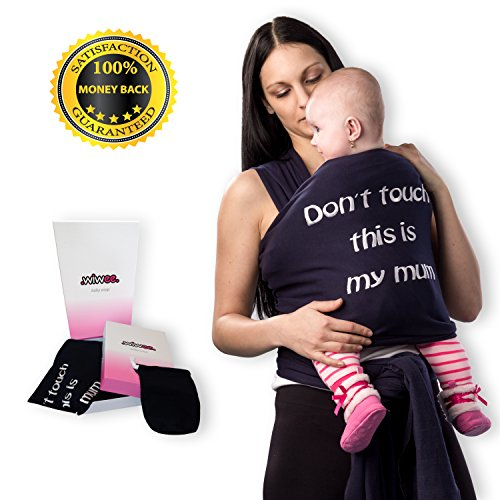 Wiwee Baby Sling Wrap for Pain-Free Carrying | Extra Soft and Lightweight Sling for Extended Use | for Breastfeeding | for Newborns to 35 lbs | No-Risk 100%!