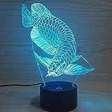 YTDZ Creative 3D Arowana Night Light 7 Colors