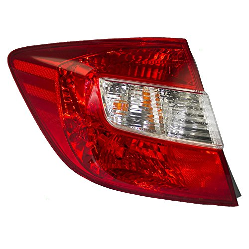 Drivers Taillight Tail Lamp Lens Replacement for Honda Sedan 33550TR0A01 AutoAndArt