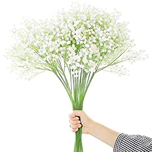 MARJON FlowersGypsophila Artificial Flowers Bouquets Fake Flowers Babies Breath for Home Party Wedding Decoration(5PCS) 108