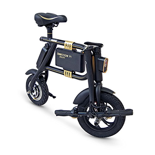 InMotion P1F - Mini-Scooter Unisex, Color Negro y Dorado: Amazon.es: Deportes y aire libre