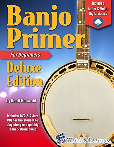 Sets Banjo - Banjo Primer Book For Beginners Deluxe Edition (Audio & Video Access)