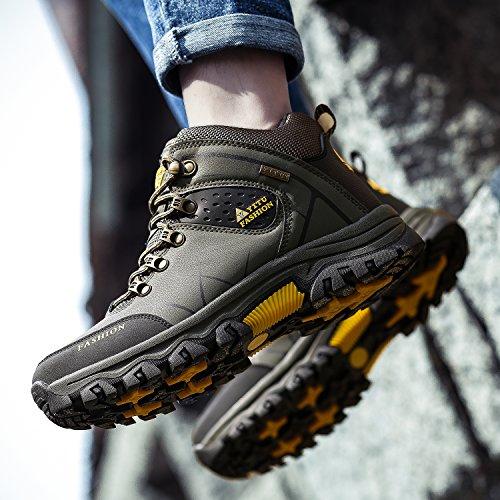 NEOKER Armée Homme Verte Sport Sneakers Hautes Gris de Armée Imperméable Randonnée Chaussures Trekking Verte Outdoor Marron Bottes gqRgwB