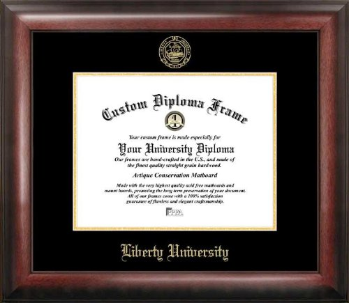 Campus Images VA989GED Liberty University Embossed Diploma Frame, 8.5