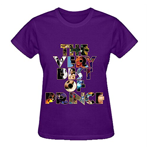 Little Red Corvette Prince T Shirt Design Women Crew Neck Purple