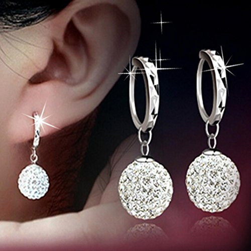 Vibola Pendant Fashion Womens Sterling Silver Snowflake Stud Earrings Jewelry