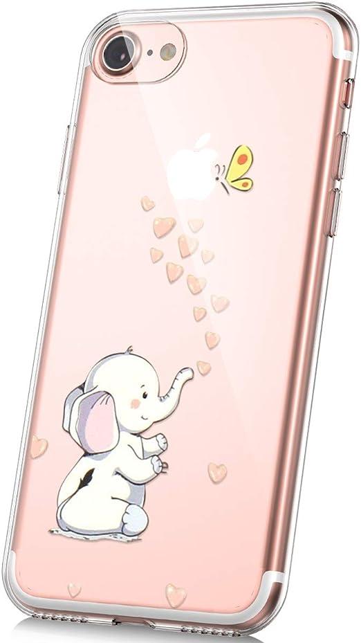 Iphone 7 Plus Dibujos Animados Vidrio Funda Silicona Creativo Anti