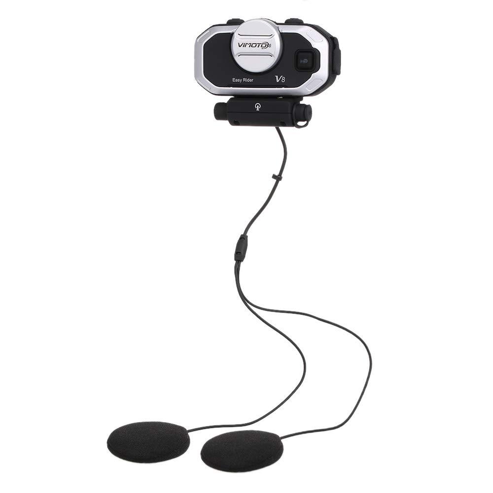 Docooler Vimoto V8 Casque de Moto BT Intercom Headset Interphone étanche à l'eau simultanément MP3 GPS Walkie-Talkie Longue durée de Veille