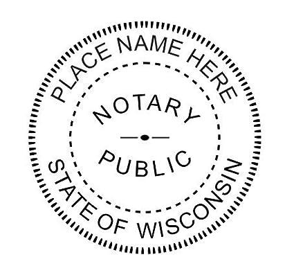 Notary Embosser Seal Custom WISCONSIN