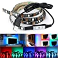 DeepDream LED Strip Light TV Backlight 6.6ft 5050 60Leds 5V USB Powered with 17 Key RF Wireless Controller for HDTV, Flat Screen TV Accessories and Desktop PC, Multi Color