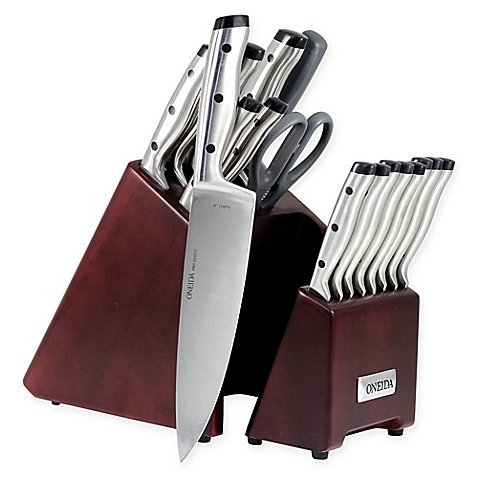 Oneida Pro Series 18-Piece Stainless Steel Knife Block Set by Oneida