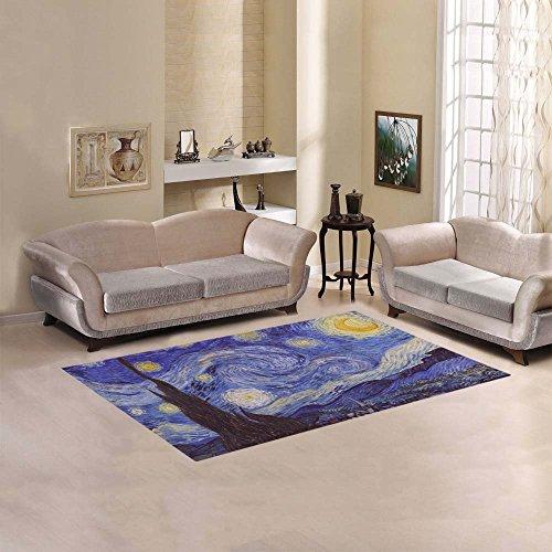 JC-Dress Area Rug Cover Vincent Van Gogh Starry Night Modern Carpet Cover 7'x5' ()