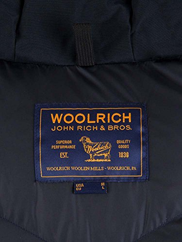 Cappotto Wocps2477dkn Cotone Woolrich Blu Uomo d4p7qdwU
