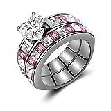 Blue Olives Crystal Cluster 3-Piece Bridal Engagement Wedding Ring Set