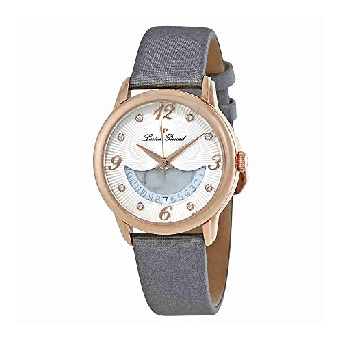 Lucien Piccard Womens Crystal - Lucien Piccard Women's 'Bellaluna' Swiss Quartz Stainless Steel and Leather Casual Watch, Color:Grey (Model: LP-40034-RG-02-SGSS)