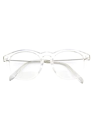 CGID CN88 Retro Clubmaster Wayfarer Anteojos Lente Claro Gafas Para Mujer y Hombre