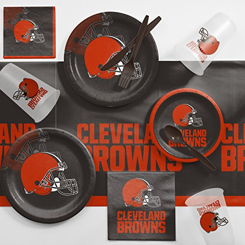 Creative Converting Cleveland Browns Game Day Party Supplies Kit, Serves 8