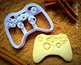 Game Controller Cookie Cutter - Video Games Cookies Mold by Sugary Charm - Ps4 and Xbox Shaped Dough Stamp - Biscuit Maker Cutters for Fondant - Funny Playstation Shape Kitchen Supplies