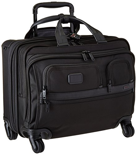 Tumi Alpha Ballistic Business 4 Wheel Deluxe Brief with Laptop Case, Black, One (Tumi Computer Briefcase)