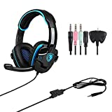 GHB SADES SA-708GT Gaming headset Gaming Headphone with Microphone For PS4/Xbox 360 /PC /Laptop/ Cellphone Black Blue