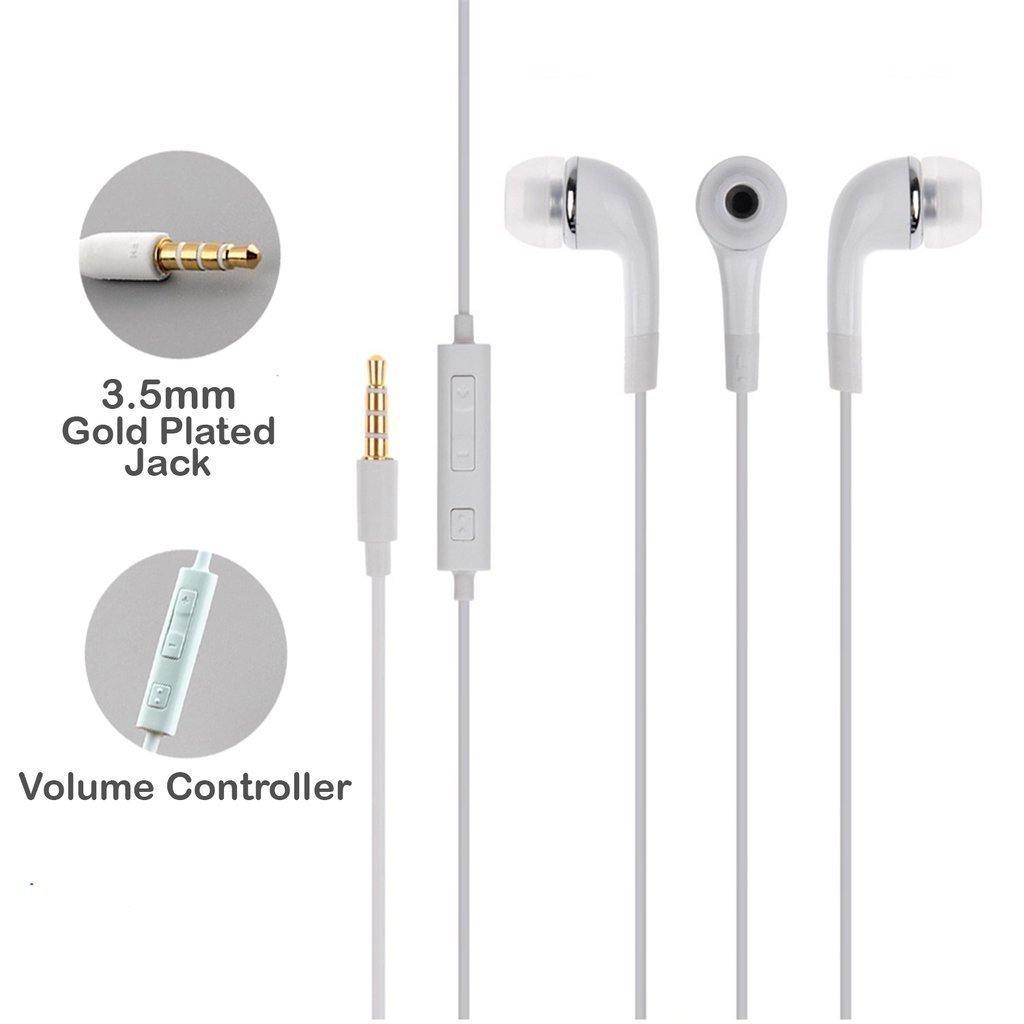SBA Stereo Super Bass Earphone Hands-Free Mini Size Headset With Mic, On/Off switch & Volume Controller 3.5mm Jack Certified For Moto Turbo
