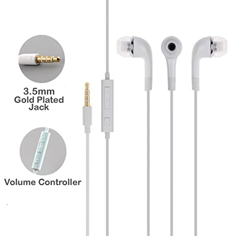 aeb7cbbc88f84b ecosmos EarPhones Headset WIth Mic, 3.5mm Jack And Music Equalizer For All  Samsung Galaxy