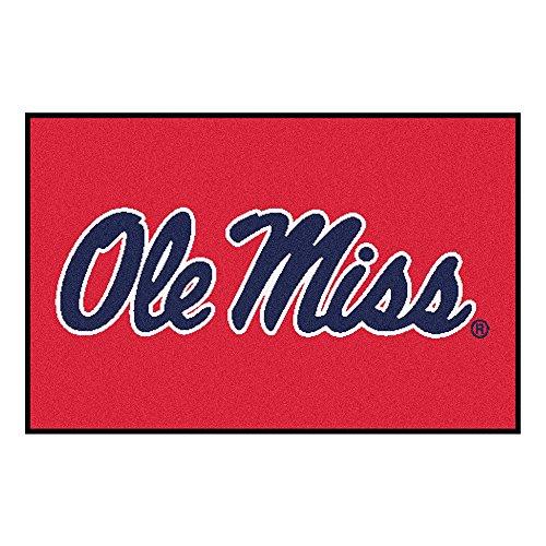 Zokee-University of Mississippi Ole Miss Logo Area Rug (Tailgater)