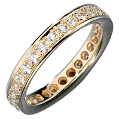 Bague pour Femme Memory en or avec diamants brillants en or jaune 585Bague