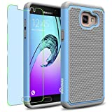 Samsung Galaxy A5 (2016) / A510F Case, INNOVAA Smart Grid Defender Armor Case (Not Compatible with Samsung Galaxy A5 (2015)) W/ Free Screen Protector & Touch Screen Stylus Pen - Grey/Light Blue