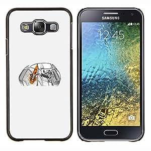 """Be-Star Único Patrón Plástico Duro Fundas Cover Cubre Hard Case Cover Para Samsung Galaxy E5 / SM-E500 ( Divertidos Crayon Bandits - Pulp Crayon"""" )"""