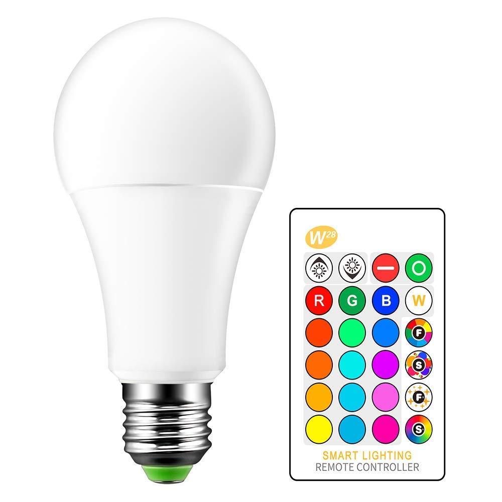 ONEVER 15W RGBW LED Birne E27 Farbe ver?ndert Atmosph?re Beleuchtung LED-Lampe-Partei-Stab KTV dekorative Lichter Flash-Strobe Fade-Modus RGB + Warm White (4PCS)