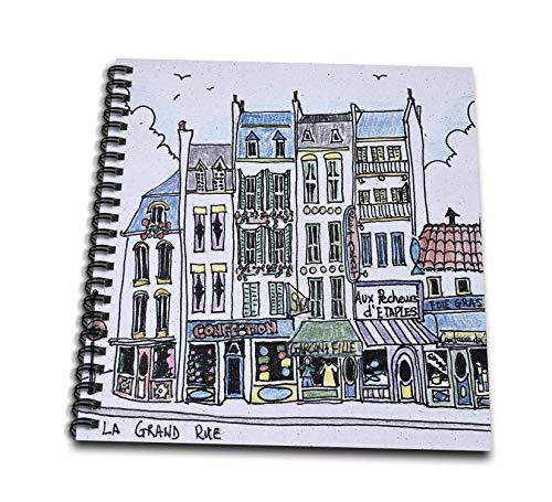 Boulogne Mini - 3dRose Danita Delimont - France - La Grand Rue through old town, Boulogne-Sur-Mer, France - Mini Notepad 4 x 4 inch (db_313157_3)