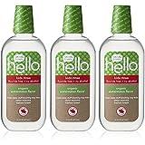 Hello Oral Care Kids Fluoride Free Organic Rinse, Watermelon, 3 Count