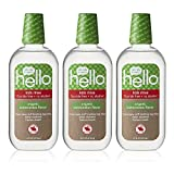 Hello Oral Care Kids Fluoride Free Organic Rinse, Watermelon, 3 Count