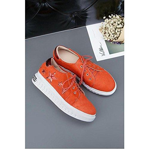 Femme Plateformes WSXY Outdoor à Sneakers Chaussures KJJDE Multisports A1402 Chaussure Course de Orange de Chaussures BqRHx
