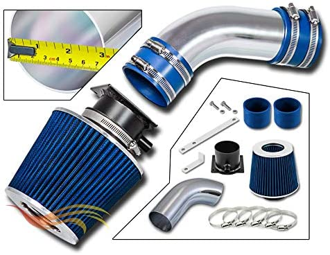 Filter Combo BLUE Compatible For 96-00 Audi A4 Rtunes Racing Short Ram Air Intake Kit A6 2.8L V6